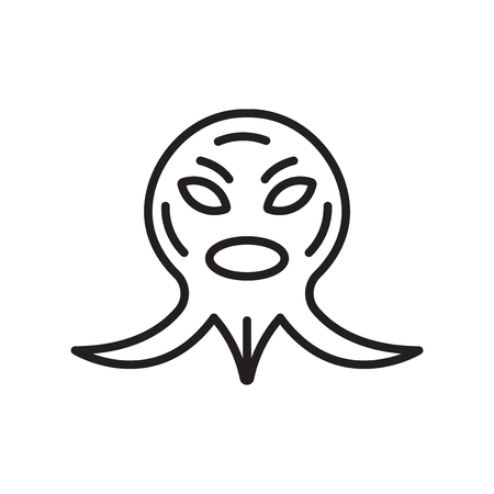 Monster icon vector isolated on white background for your web and mobile app design, Monster logo concept Stock Illustratie