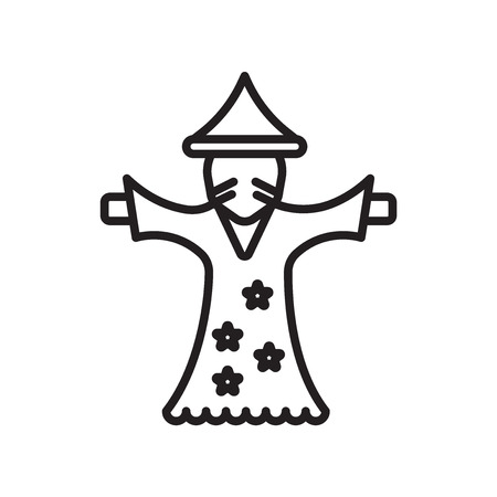 Wizard icon vector isolated on white background for your web and mobile app design, Wizard logo concept