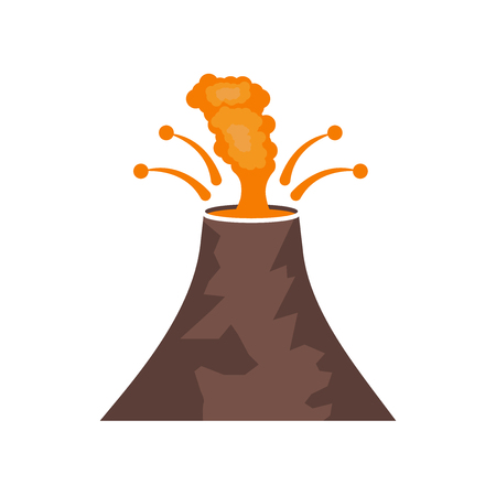 Eruption icon vector isolated on white background for your web and mobile app design, Eruption logo concept