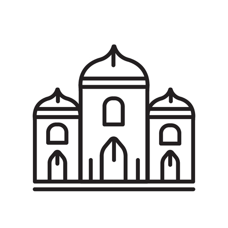 Palace icon vector isolated on white background for your web and mobile app design, Palace logo concept