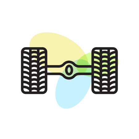 Wheel alignment icon vector isolated on white background for your web and mobile app design, Wheel alignment logo concept Ilustração