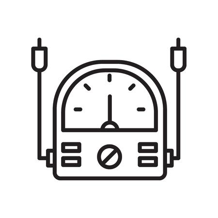 Vecteur d'icône de voltmètre isolé sur fond blanc pour la conception de votre application web et mobile, concept logo voltmètre Logo