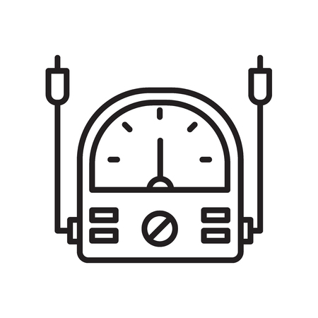 Voltmeter icon vector isolated on white background for your web and mobile app design, Voltmeter logo concept