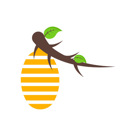Hive icon vector isolated on white background for your web and mobile app design, Hive logo concept Stock Illustratie