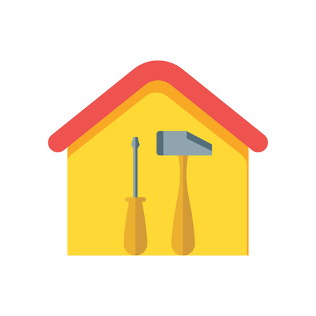 House repair icon vector isolated on white background for your web and mobile app design, House repair logo concept