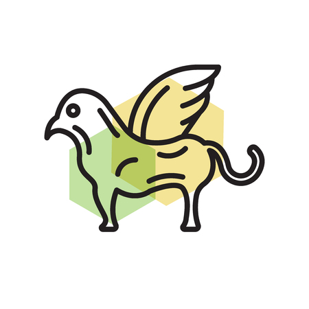 Chimera icon vector isolated on white background for your web and mobile app design, Chimera logo concept