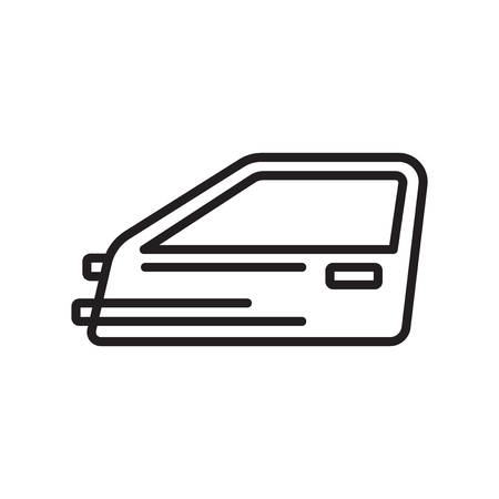 Car door icon vector isolated on white background for your web and mobile app design Archivio Fotografico - 106991158