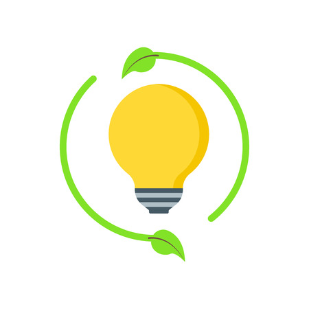 Renewable energy icon vector isolated on white background for your web and mobile app design, Renewable energy logo concept