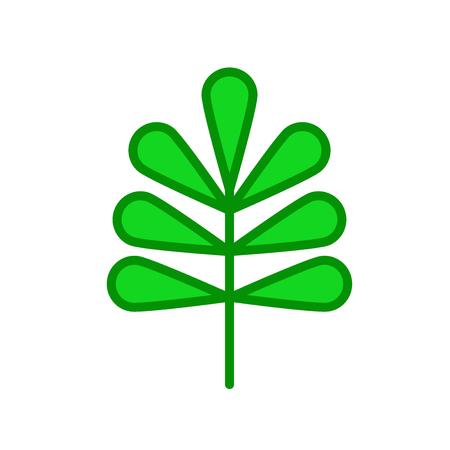 Vector icono de hoja de nuez aislado sobre fondo blanco para su diseño web y aplicaciones móviles, concepto de logo de hoja de nuez Logos