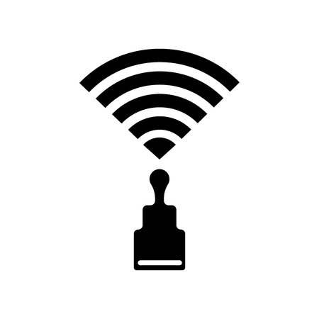 Wireless signal icon vector isolated on white background for your web and mobile app design Ilustração