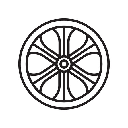 Alloy wheel icon vector isolated on white background for your web and mobile app design