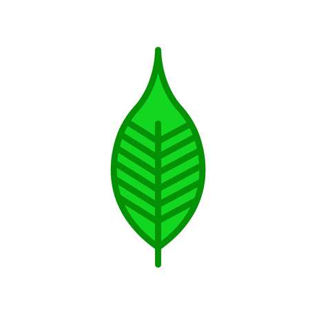 Cherry leaf icon vector isolated on white background for your web and mobile app design Vettoriali