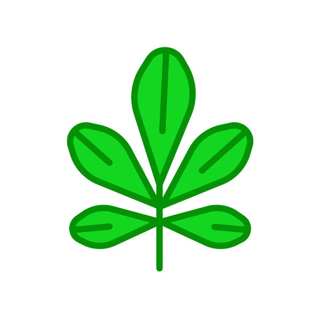Chestnut leaf icon vector isolated on white background for your web and mobile app design