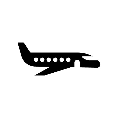 Flying aeroplane top view icon vector isolated on white background for your web and mobile app design