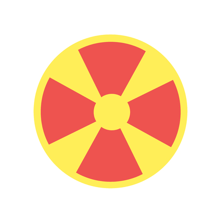 Nuclear icon vector isolated on white background for your web and mobile app design