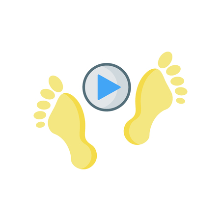 Footprints icon vector isolated on white background for your web and mobile app design
