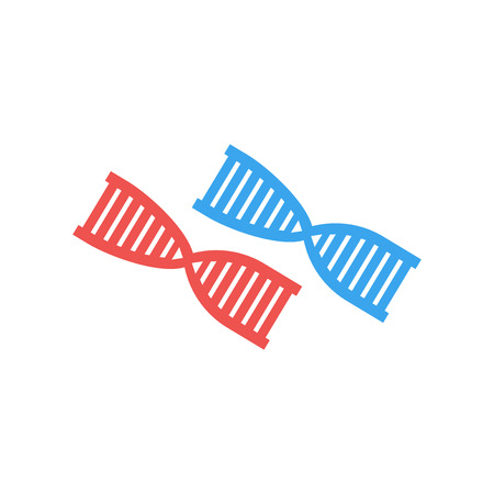 Dna icon vector isolated on white background for your web and mobile app design