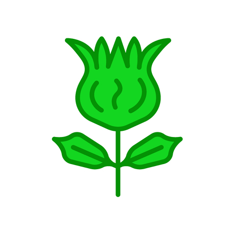Tulip icon vector isolated on white background for your web and mobile app design