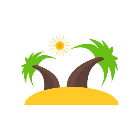 Island icon vector isolated on white background for your web and mobile app design