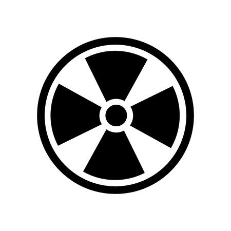 Vecteur d'icône symbole radioactif isolé sur fond blanc pour votre conception d'application web et mobile