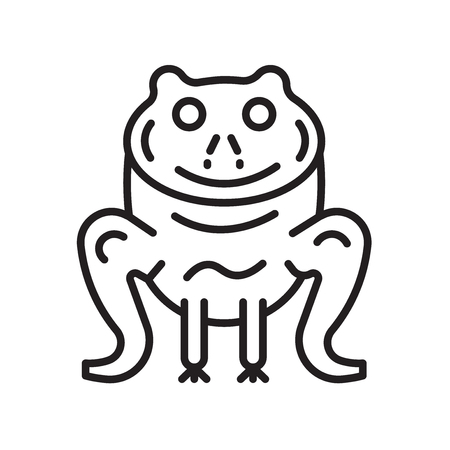 Frog icon vector isolated on white background for your web and mobile app design