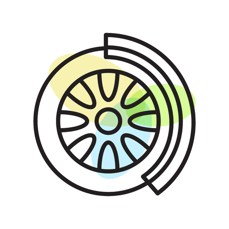 Disc brake icon vector isolated on white background for your web and mobile app design Vectores