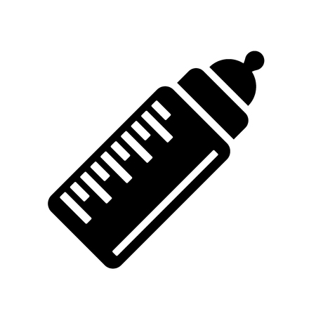 Vecteur d'icône de bouteille de lait bébé isolé sur fond blanc pour la conception de votre application web et mobile