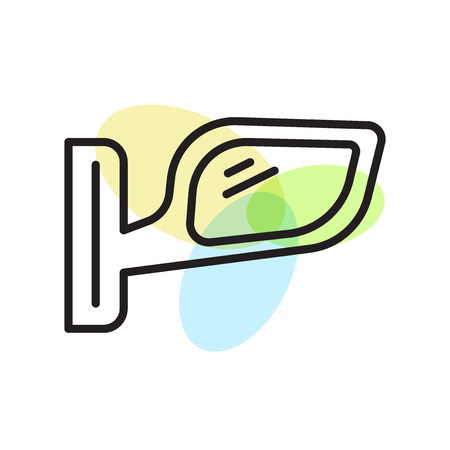 Rearview mirror icon vector isolated on white background for your web and mobile app design, Rearview mirror logo concept