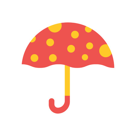 Umbrella icon vector isolated on white background for your web and mobile app design