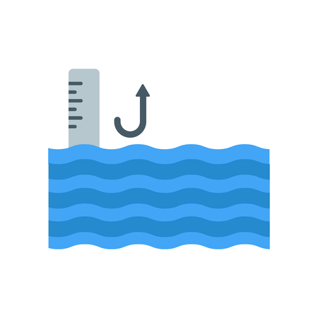 Sea level icon vector isolated on white background for your web and mobile app design