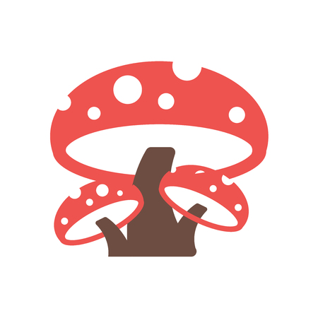 Mushroom icon vector isolated on white background for your web and mobile app design