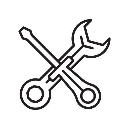 Vecteur d'icône de maintenance isolé sur fond blanc pour la conception de votre application web et mobile