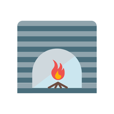 Fireplace icon vector isolated on white background for your web and mobile app design