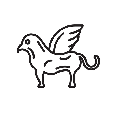 Chimera icon vector isolated on white background for your web and mobile app design