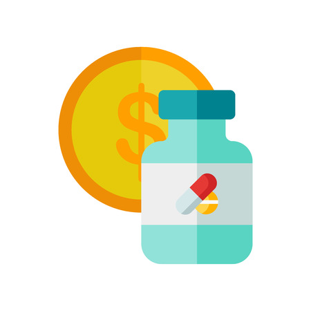 Medicine icon vector isolated on white background for your web and mobile app design