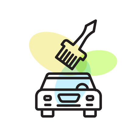 Car painting icon vector isolated on white background for your web and mobile app design