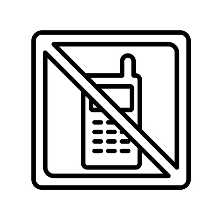 No phone icon vector isolated on white background for your web and mobile app design