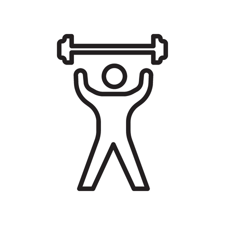 Fitness icon vector isolated on white background for your web and mobile app design