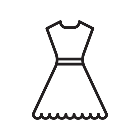 Dress icon vector isolated on white background for your web and mobile app design