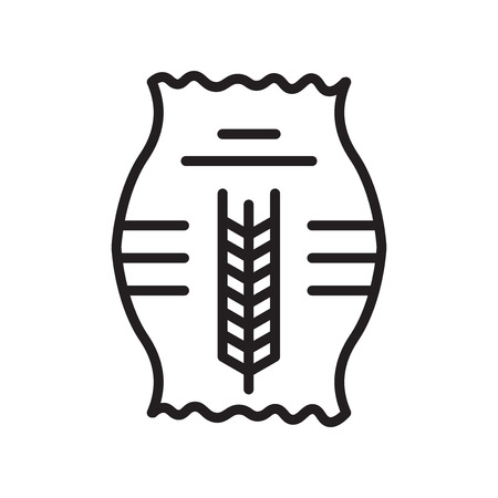 Grain icon vector isolated on white background for your web and mobile app design