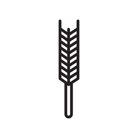 Wheat icon vector isolated on white background for your web and mobile app design Ilustração
