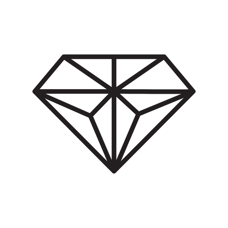 Diamond icon vector isolated on white background for your web and mobile app design