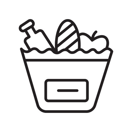 Grocery icon vector isolated on white background for your web and mobile app design