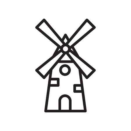 Windmühlenikonenvektor lokalisiert auf weißem Hintergrund für Ihr Web- und mobiles App-Design Vektorgrafik
