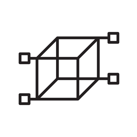 Cube icon vector isolated on white background for your web and mobile app design Vettoriali