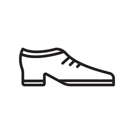 Shoe icon vector isolated on white background for your web and mobile app design Stock Illustratie