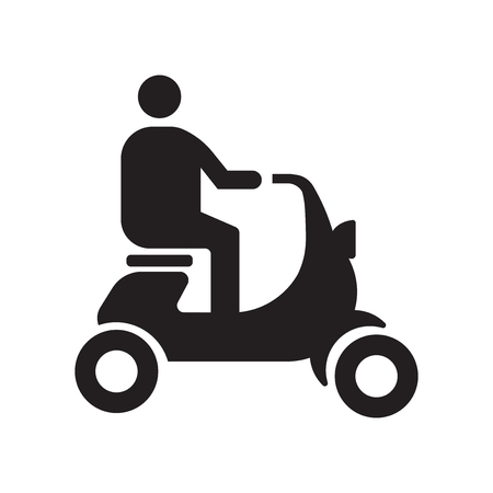 Scooter icon vector isolated on white background for your web and mobile app design