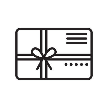 Gift card icon vector isolated on white background for your web and mobile app design Illustration