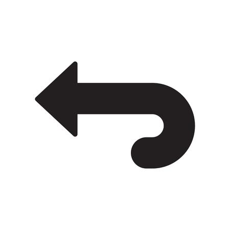 Zurück Symbolvektor lokalisiert auf weißem Hintergrund für Ihr Web- und mobiles App-Design