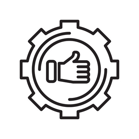 Technical Support icon vector isolated on white background for your web and mobile app design Çizim
